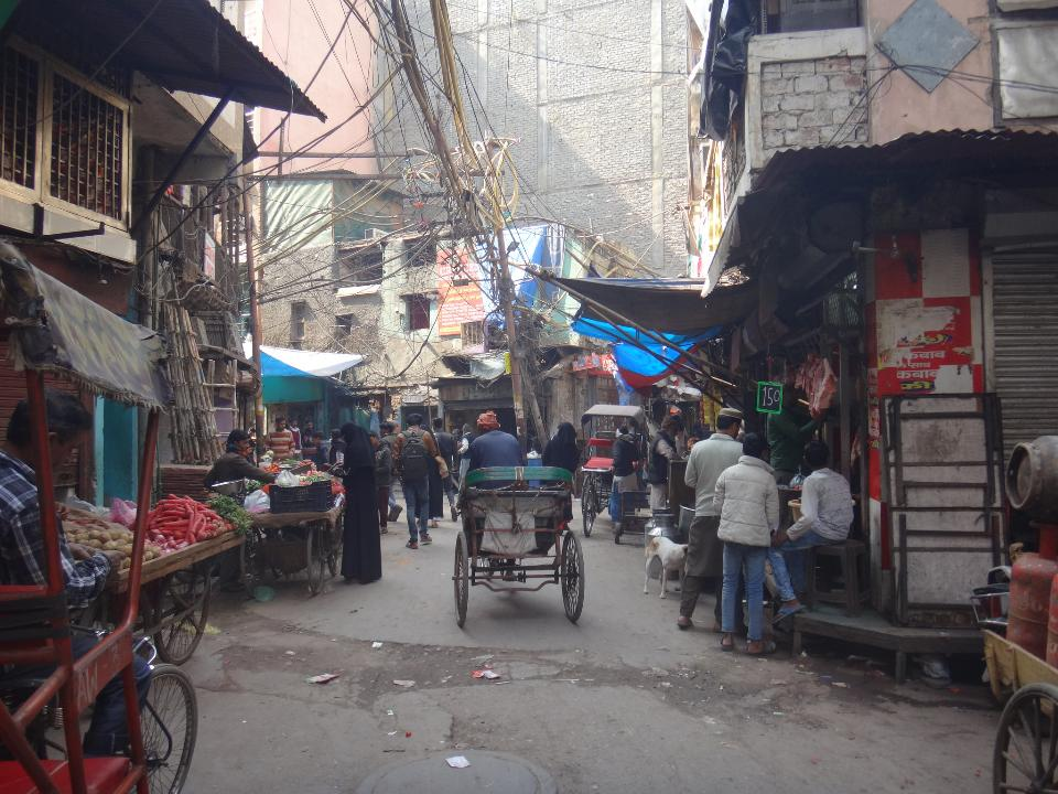 Streets of Old Delhi Near Dargah of Mirza