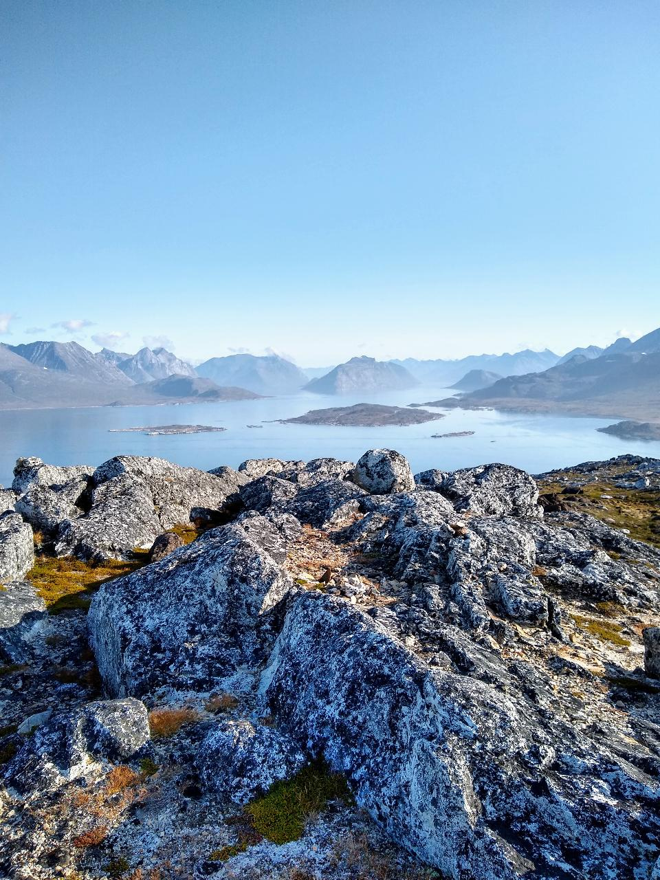 Rocks and Tasermiut Fjord