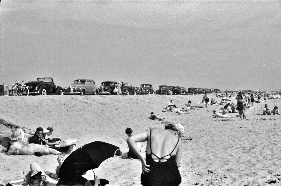 Beach scene at New Beach
