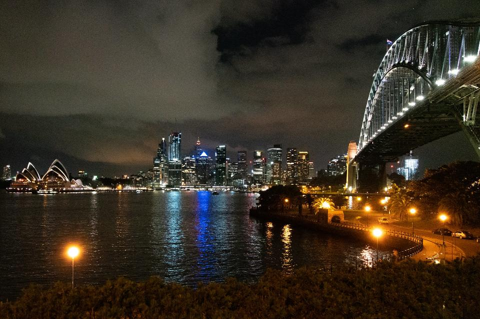 Sydney Opera House and Harbor Bridge in Australia