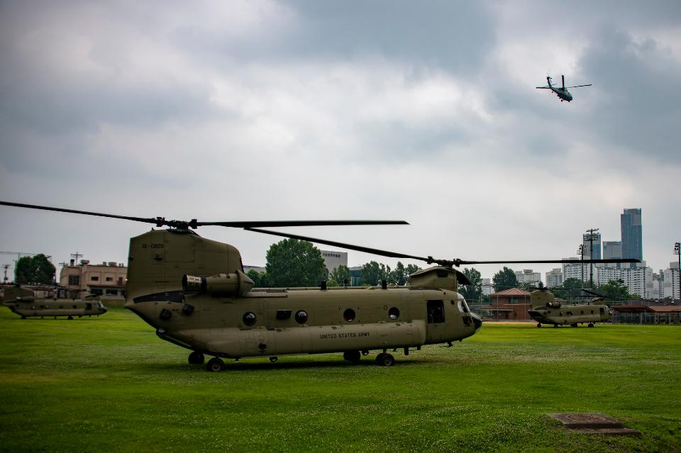 Osan Air Base in South Korea