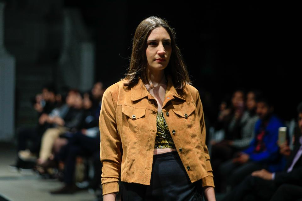 Models walk runway for Fashion Week of Lima