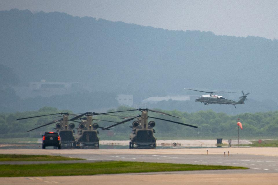 Osan Air Base in South Korea