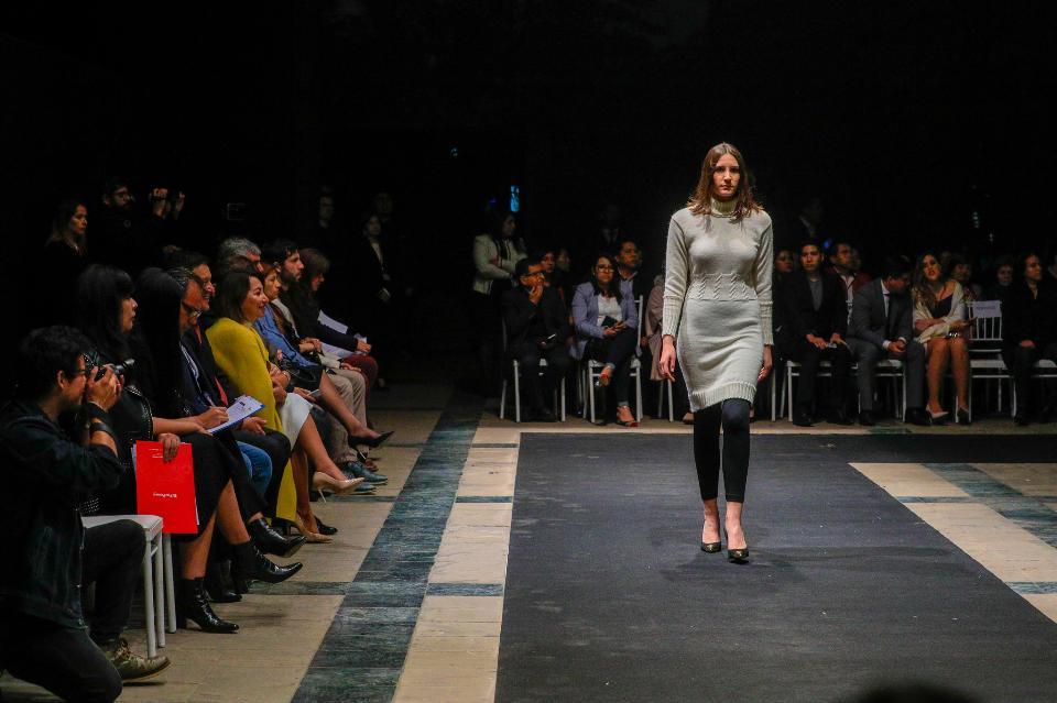 Models walk runway for Fashion Week of Lima