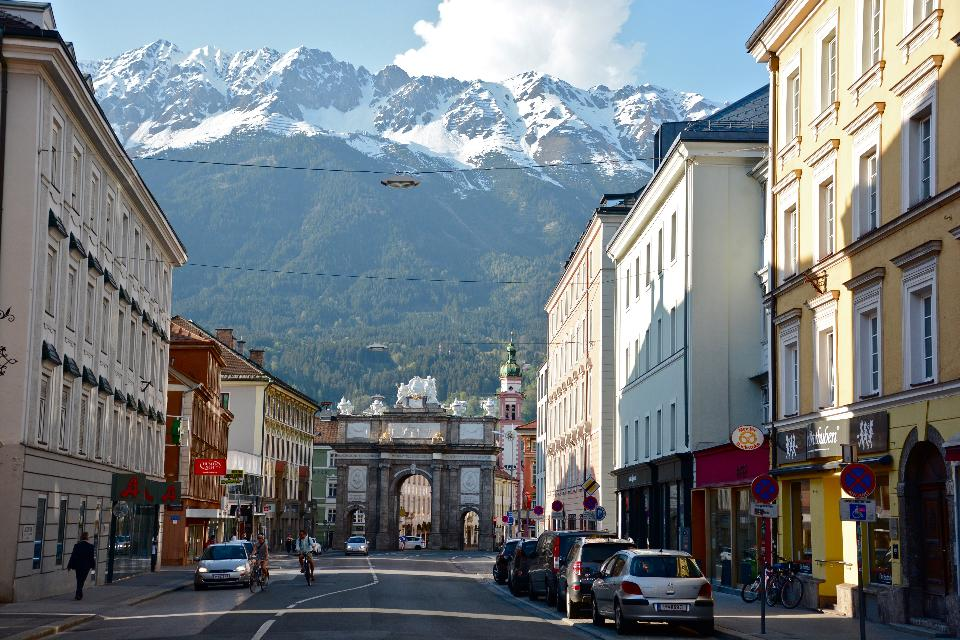 Evening scene in Innsbruck, Austria