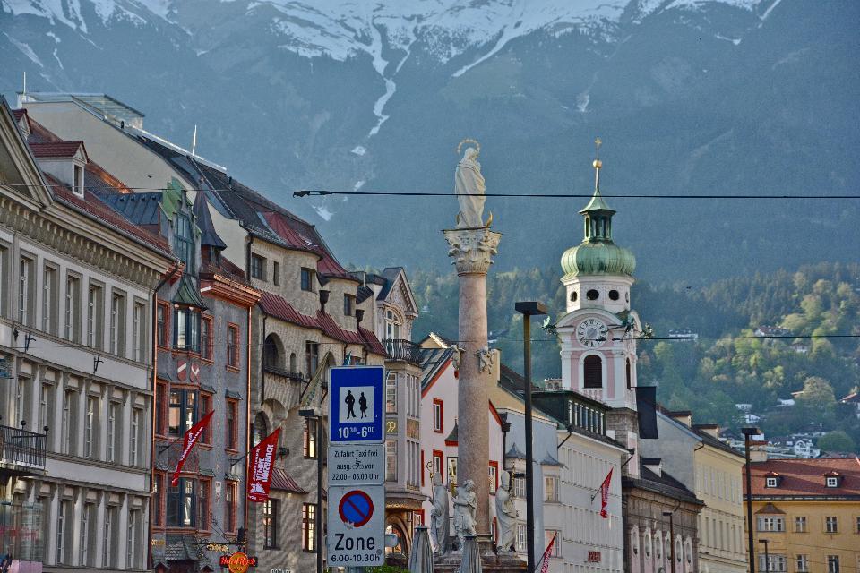 Evening scene in Innsbruck, Austria