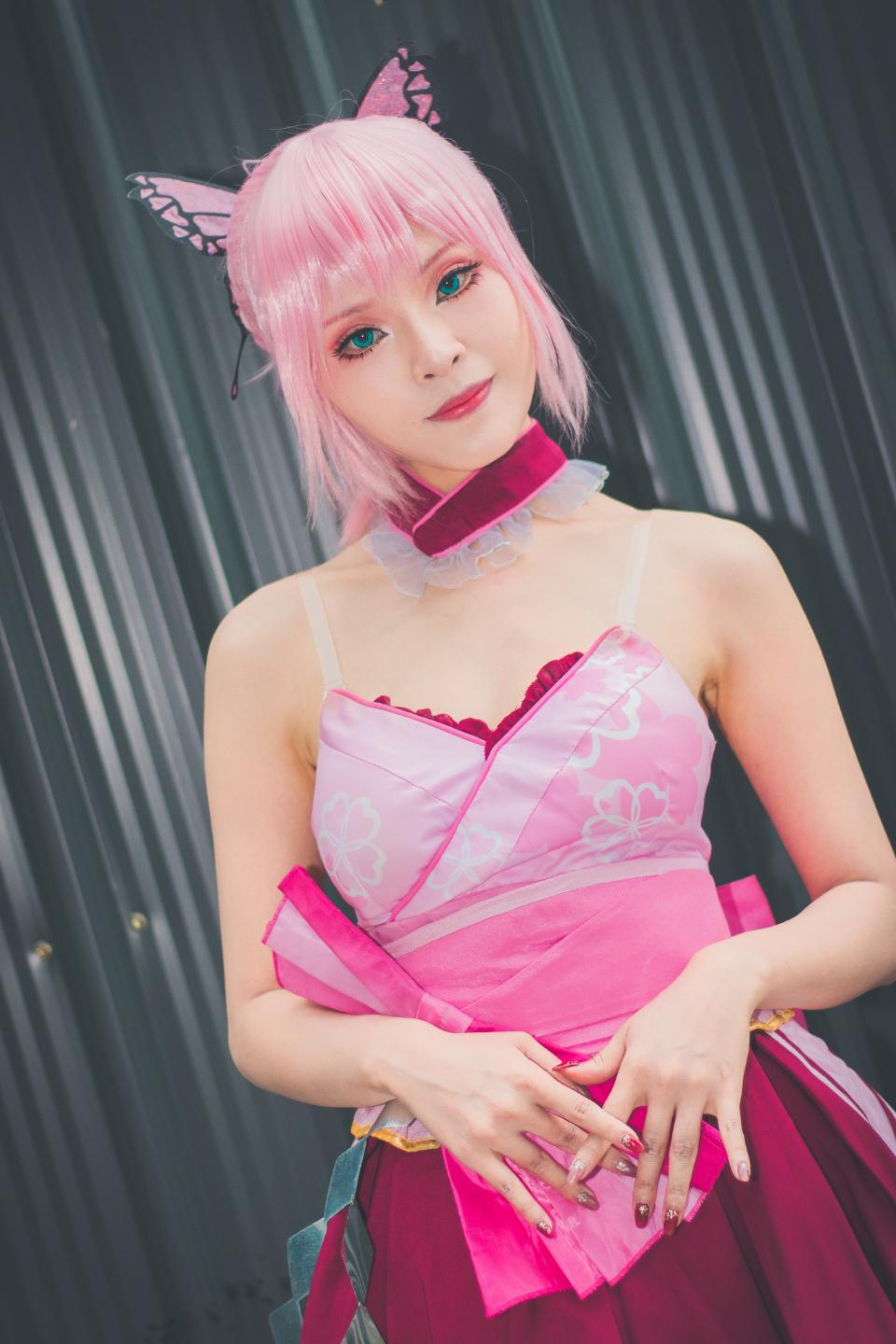 Cute Asian cosplayers dress up as Japanese Manga characters