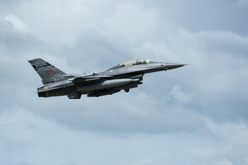 F-16s evacuate ahead of Hurricane Dorian