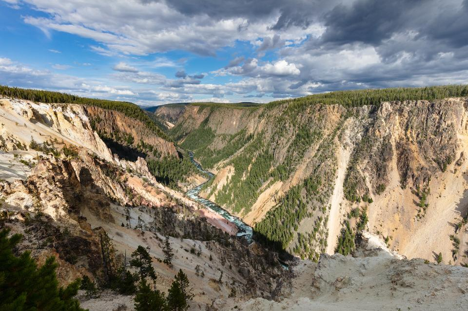 Grand Canyon of the Yellowstone from Inspiration Point