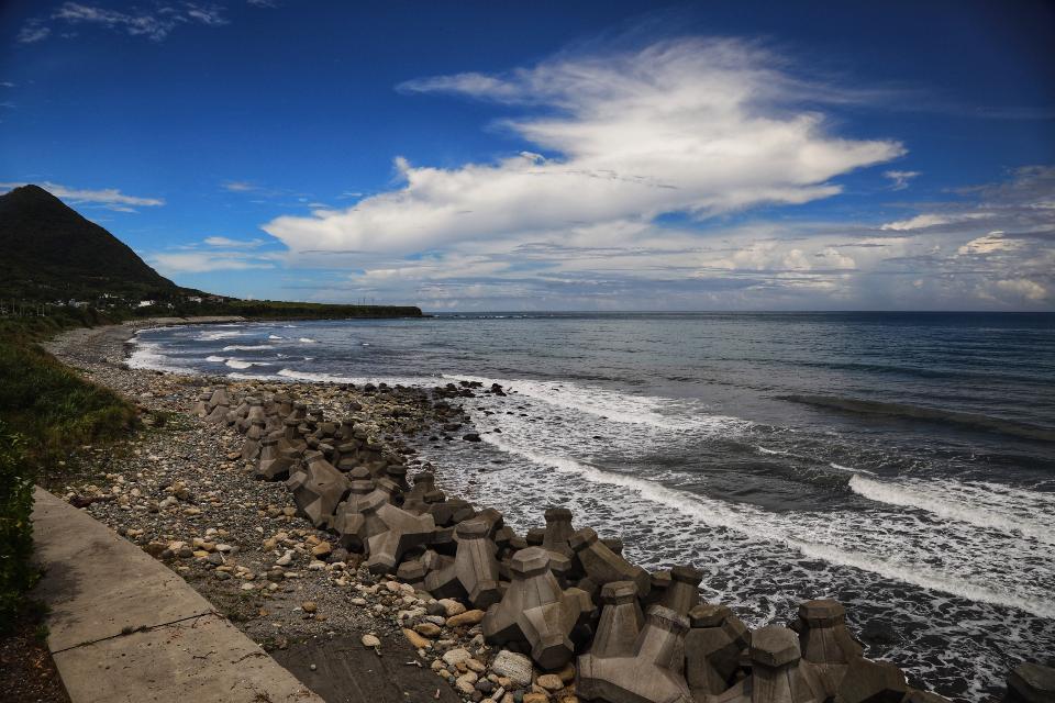 Beautiful rocks on the beach
