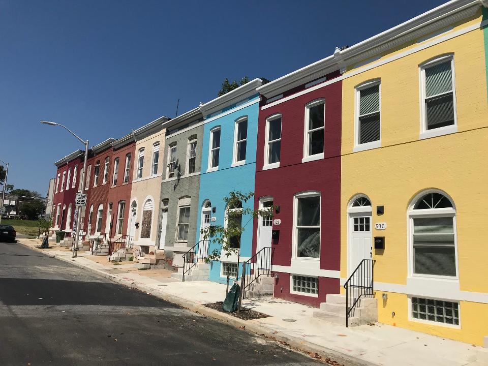 Townhouse Block in Baltimore, Maryland