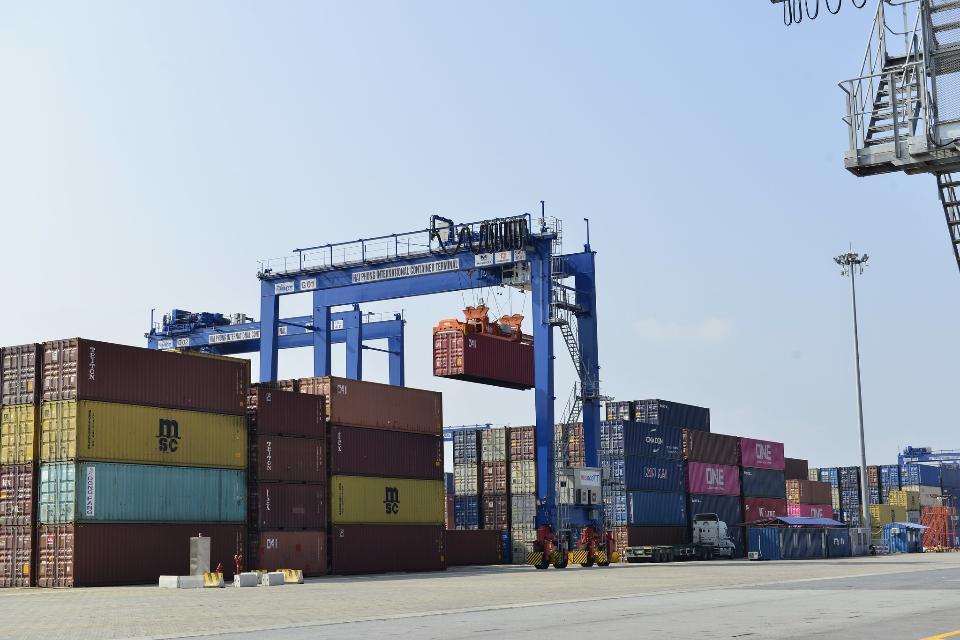 Huyen port in Hai Phong Vietnam
