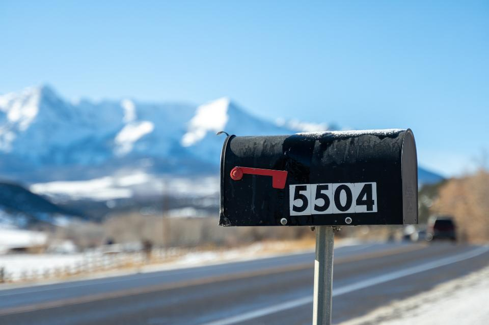 Mailbox along highway