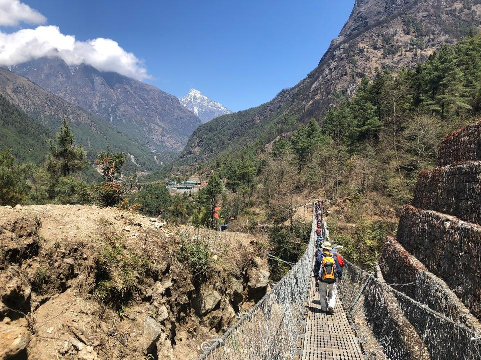 Trekking group on the way to the Everest Base Camp