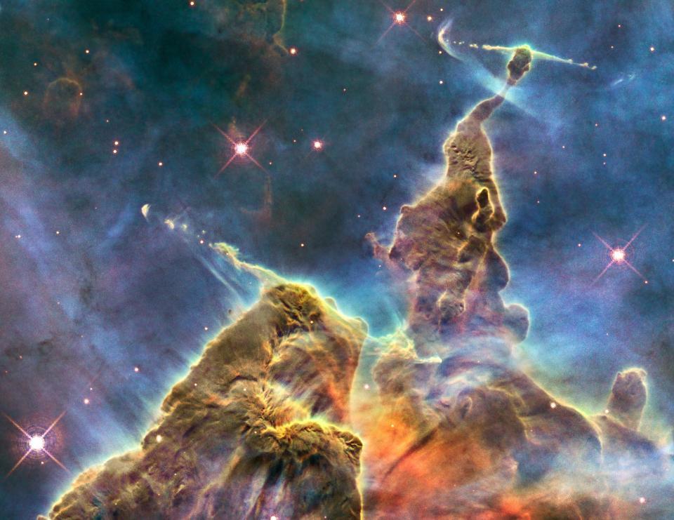 Carina Nebula's Mystic Mountain