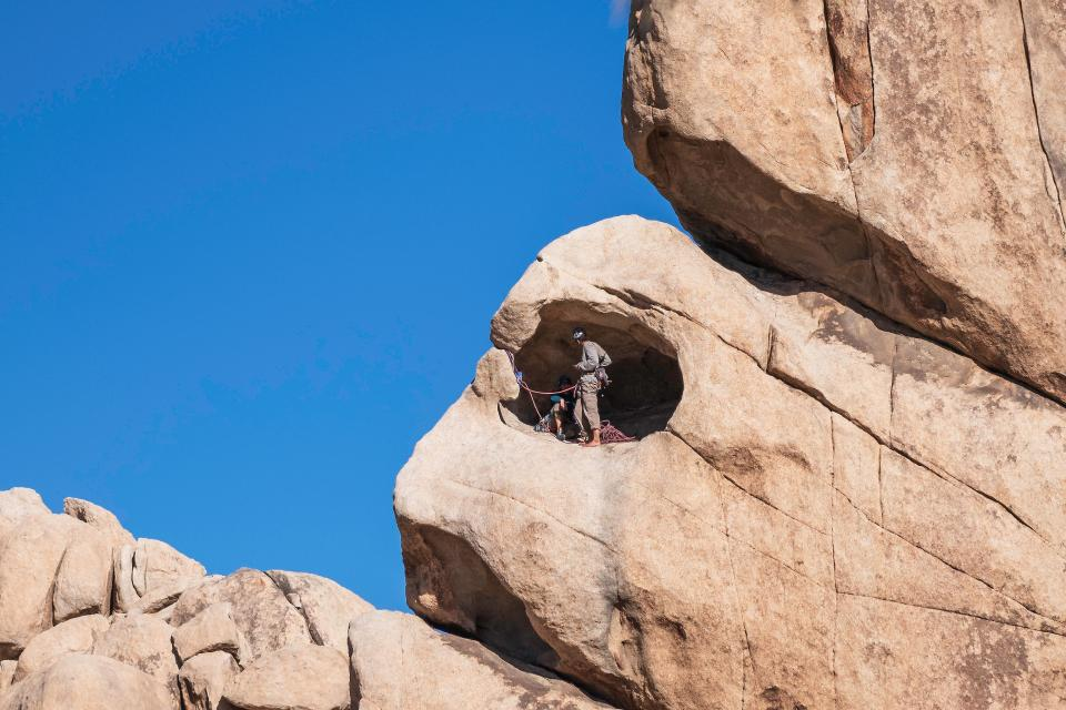Climbers in Hidden Valley Campground