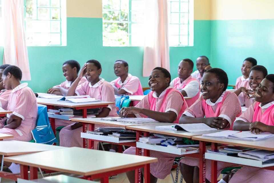 Students in Kagera,Tanzania