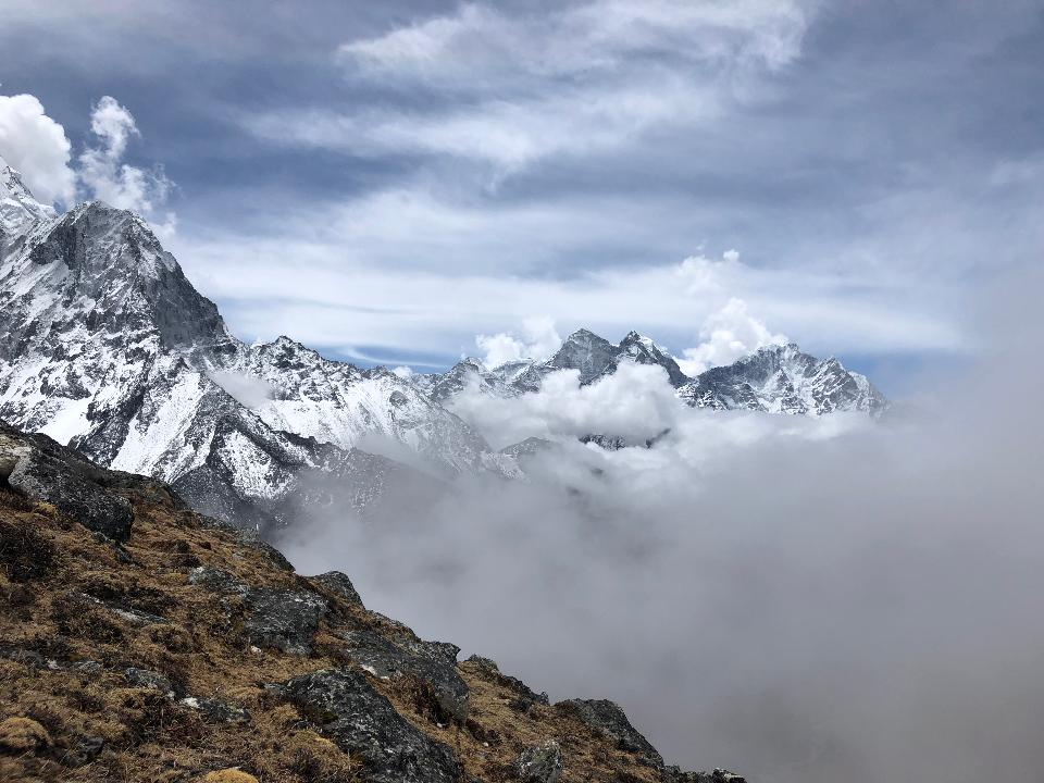 山峰。珠穆朗玛峰。尼泊尔国家公园