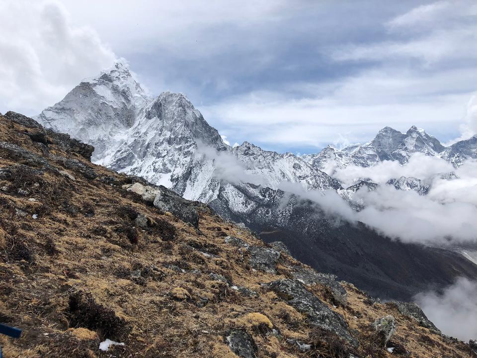 Mountain peak. Everest. National Park, Nepal