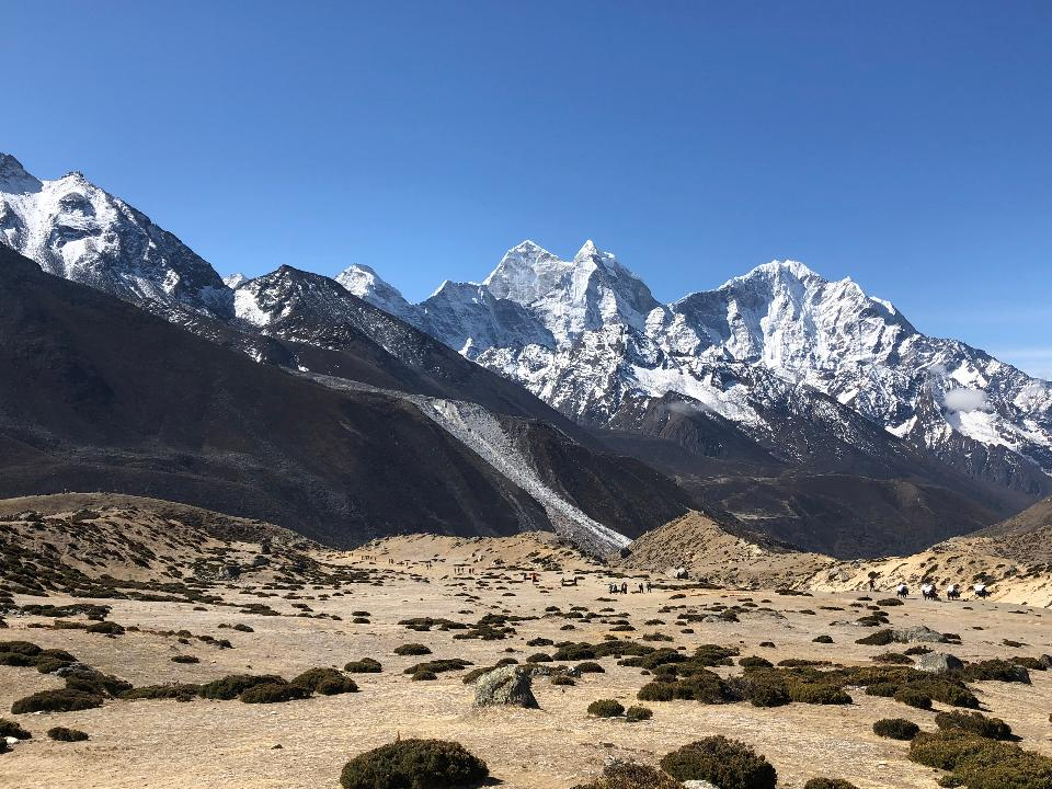 Mountain peak. Everest. National Park, Nepal