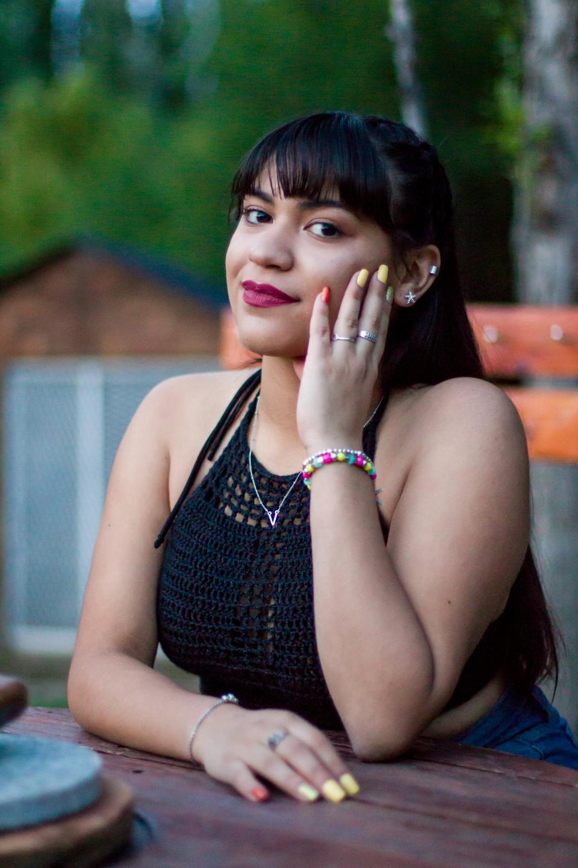Model portrait. beautiful hispanic woman