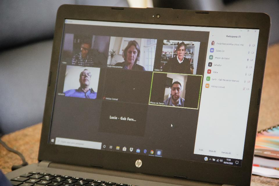 Businesswoman Video Conferencing