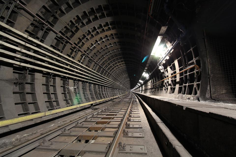 dark railway tunnel