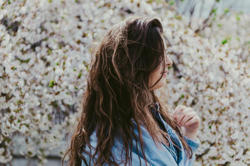 outdoor portrait of a beautiful Caucasian woman