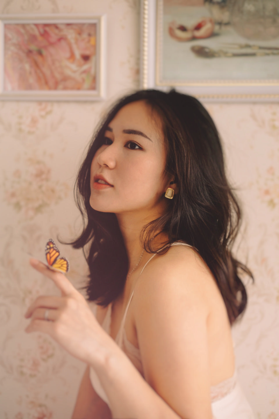 indoor portrait of a beautiful Asian woman