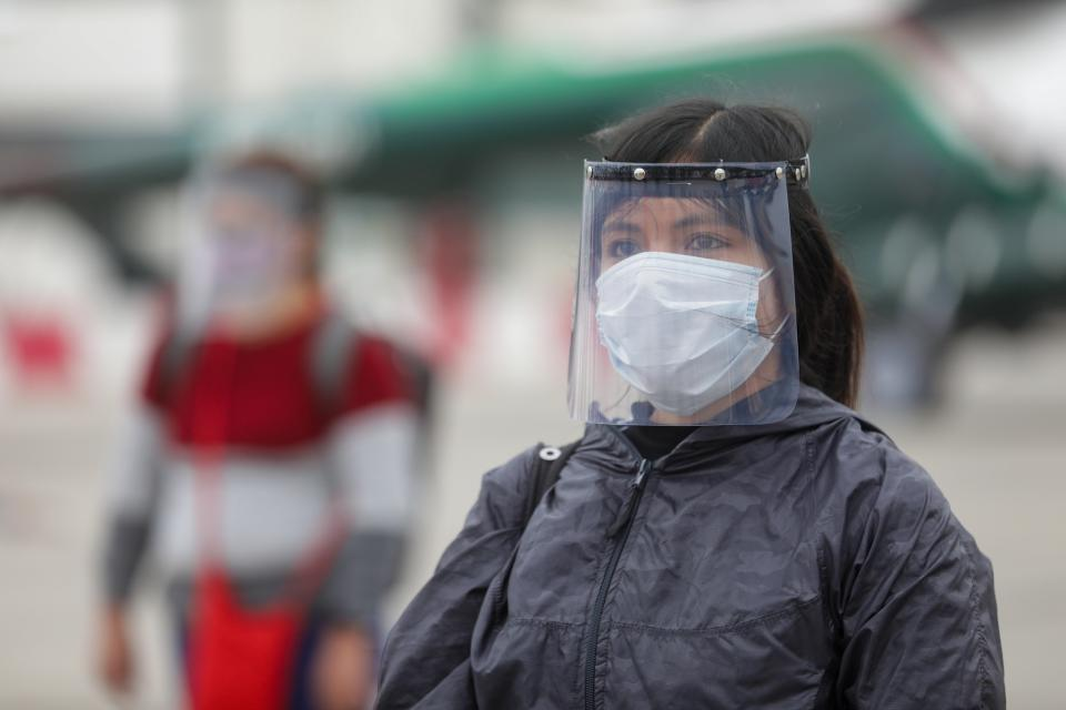 women wearing hygienic mask to prevent the Coronavirus