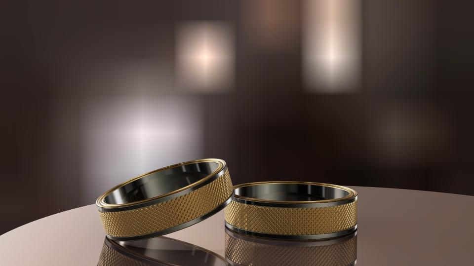 Two wedding golden rings