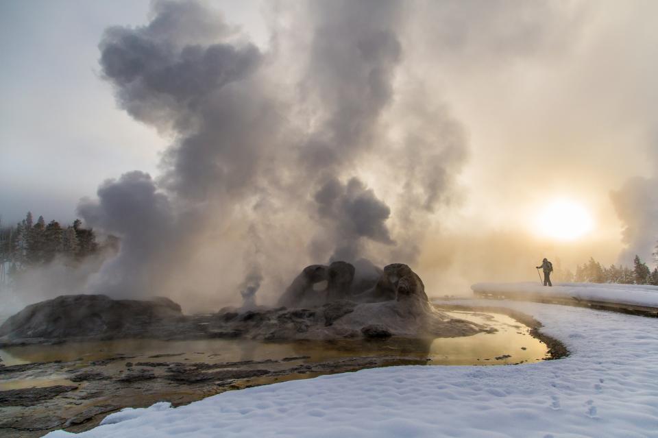 懷俄明州黃石國家公園的冬天