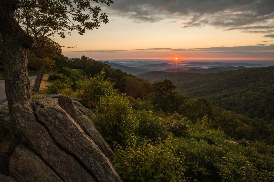 Sunrise at Shenandoah National Park
