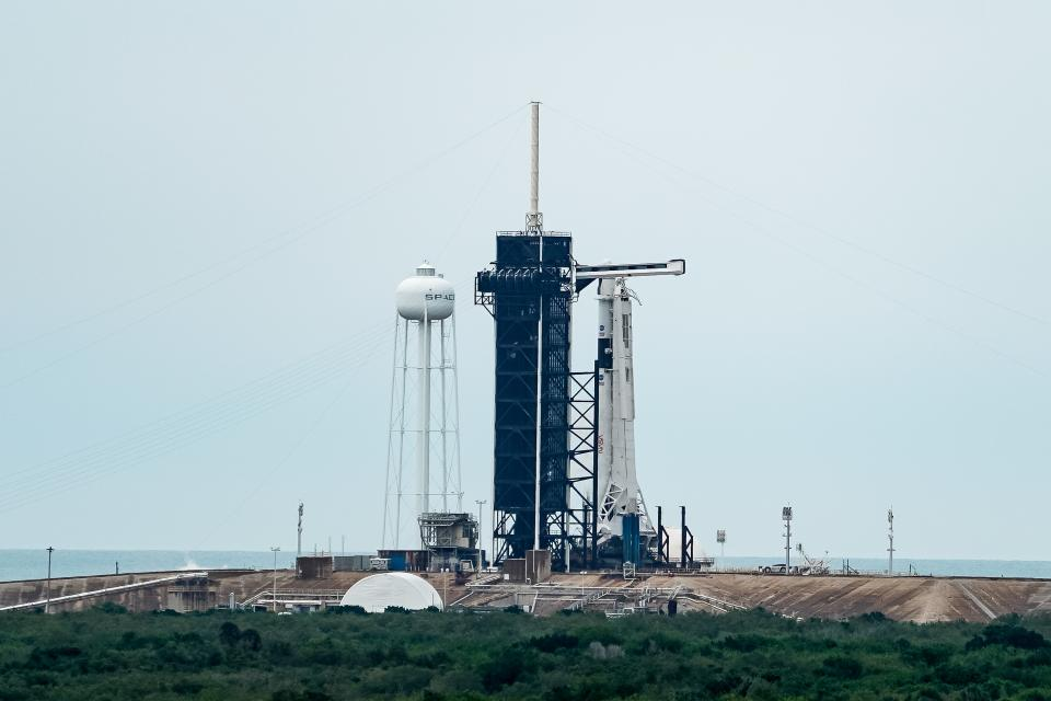 The launch site of the SpaceX Falcon 9