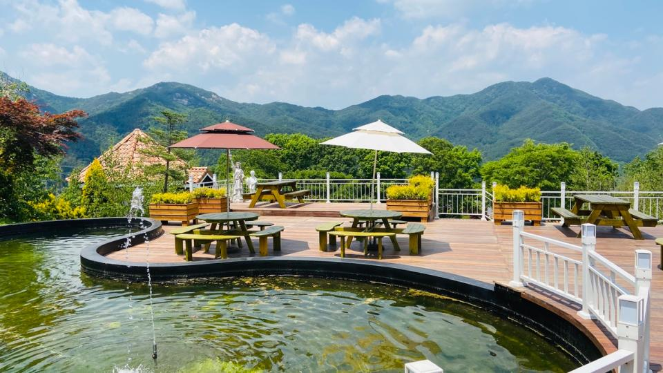 Beautiful Landscape Hamyang winery in South Korea