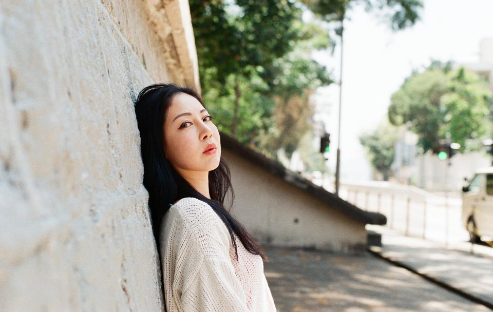 outdoor portrait of a beautiful Asian woman