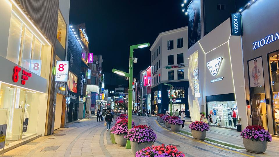韓国・釜山の南浦洞ショッピングエリア