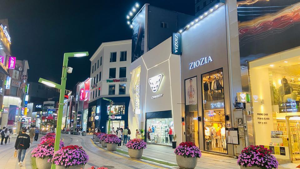Nampodong shopping area in Busan, South Korea