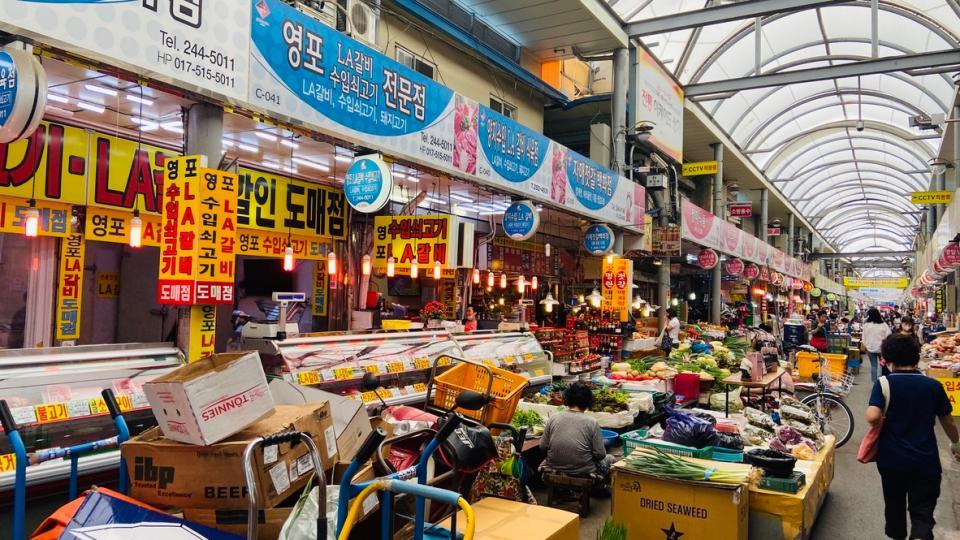 Jukdo Market in Pohang South Korea
