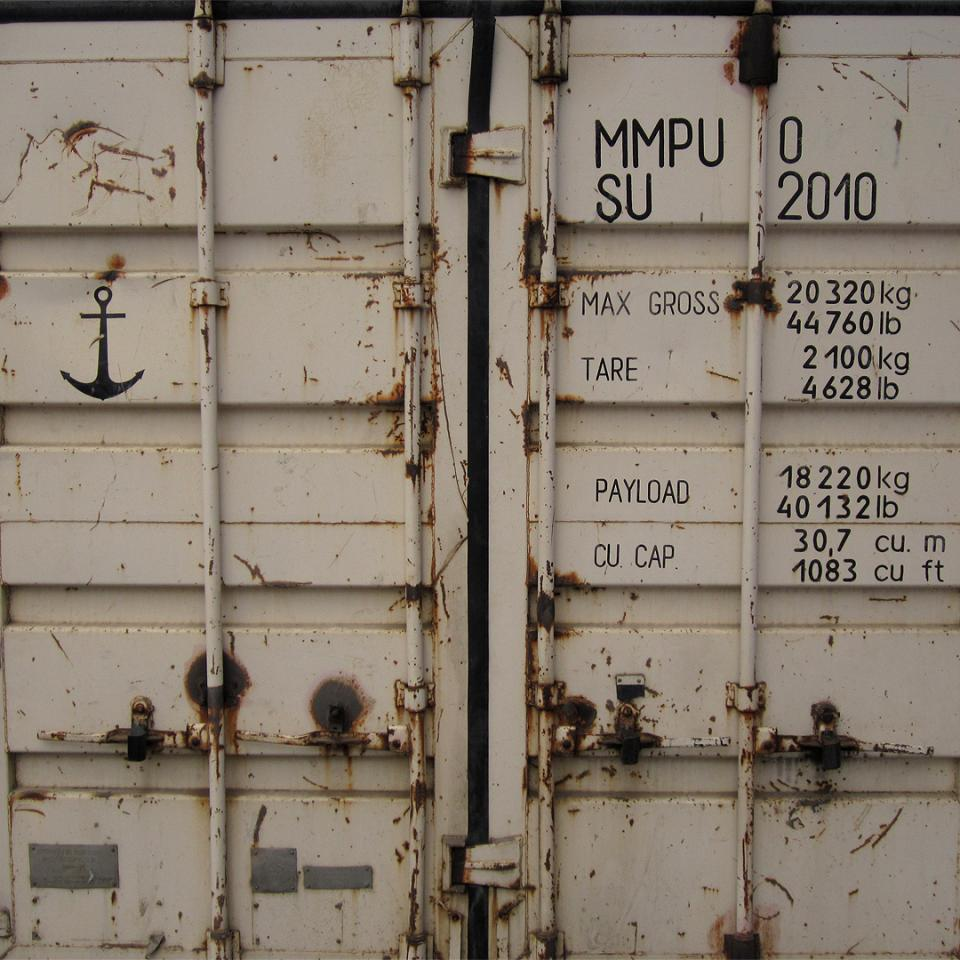 White freight container