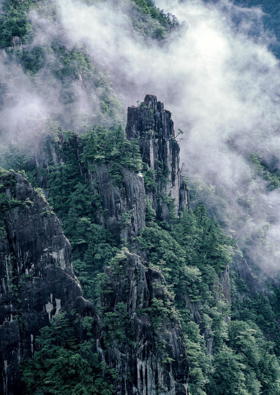 黄山山安徽省、中国