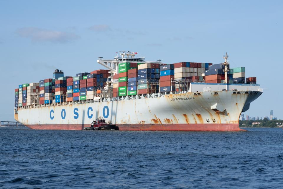 Container cargo ship global business